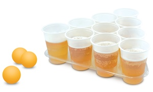 Tabletop beer pong game set groupon goods for 12 in 1 game table groupon