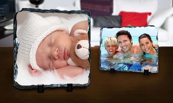 Printerpix: One or Three Custom Photo Prints on Slate from PrinterPix (Up to 86% Off). Three Options Available.