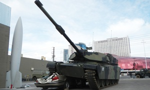 Battlefield Vegas: Gun-Rental or Tank Car-Crush Package at Battlefield Vegas (Up to 36% Off)