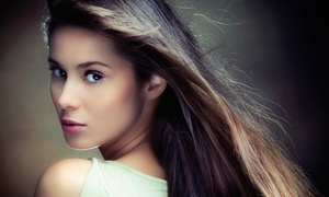Tamed Hair Salon: Cut Package with Partial or Full Highlights or Color Retouch, or a Keratin Treatment at Tamed Hair Salon (Up to 56% Off)