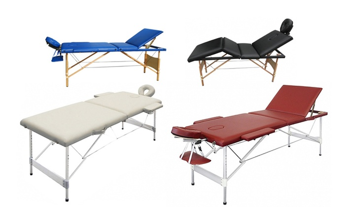 Table de massage en bois ou alu groupon - Ou acheter table de massage ...