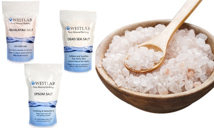 5kg Westlab Epsom, Dead Sea and Himalayan Salt Resealable Stand Up Pouch from £10.99 (Up to 33% Off)