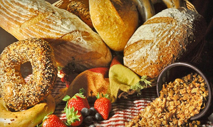 Scholars Inn Bakehouse - Multiple Locations: $8 for Granola, Loaf of Bread, and Five Bagels from Scholars Inn Bakehouse ($16 Value). Four Locations Available.