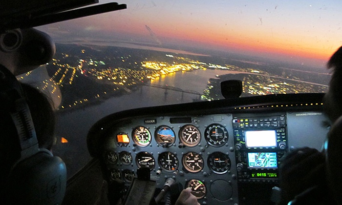 Flight Academy of New Orleans  LLC - New Orleans: Big Easy Aerial Tour for Two, or One- or Three-Lesson Flight Package from Flight Academy of New Orleans (50% Off)