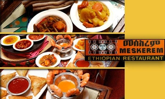 Meskerem - Adams Morgan: $15 for $30 Worth of Ethiopian Food at Meskerem