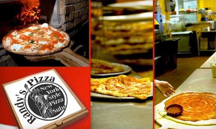 Randy's Pizza - Multiple Locations: $10 for $20 Worth of Authentic New York–Style Pies and Drinks at Randy's Pizza