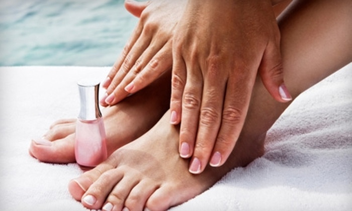 Elixir Salon  - East Central: $32 for an Elegant Manicure and Pedicure at Elixir Salon ($65 Value)