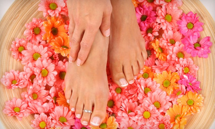 Rejuve Nail & Skin Day Spa - Bala Cynwyd: Green-Tea Mani-Pedi with Optional Hot-Stone Foot Massage at Rejuve Nail & Skin Day Spa