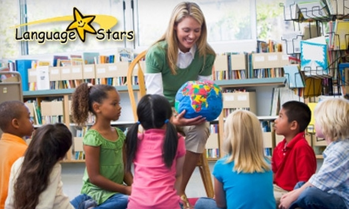 Language Stars - Multiple Locations: $95 for Four Kids' Language Classes, Registration, and CD at Language Stars