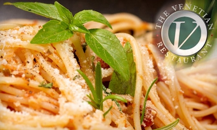 The Venetian Restaurant - Weymouth: $12 for $25 Worth of Italian Cuisine at The Venetian Restaurant in East Weymouth