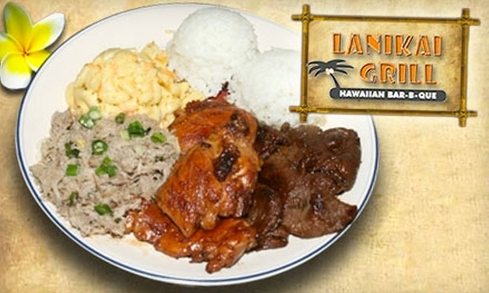 Lanikai Grill Hawaiian BBQ  - South Jordan: $8 for Two Combination Lunch Plates, Salads, or Entrees at Lanikai Grill Hawaiian BBQ in South Jordan (Up to $19 value)