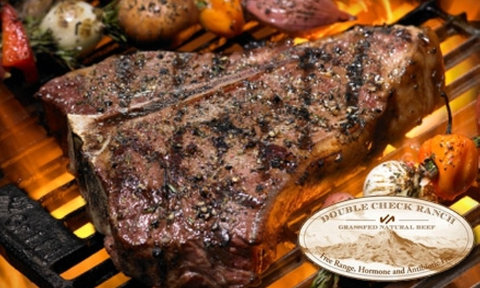 Double Check Ranch - Multiple Locations: $10 for $20 Worth of Grass-Fed Beef from Double Check Ranch