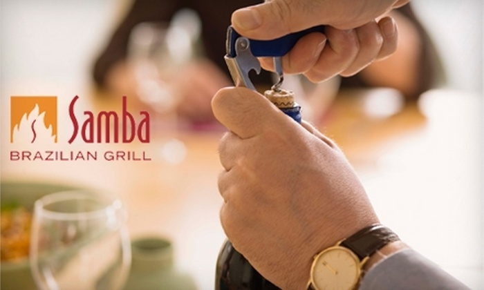 Samba Brazilian Grill - State-Langdon: $30 for a Wine-Tasting Event with Appetizers at Samba Brazilian Grill ($60 Value). Three Options Available.