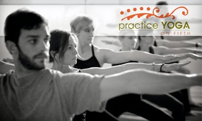 Practice Yoga on Fifth  - Oregon: $10 for Two Drop-in Yoga Classes at Practice Yoga on Fifth