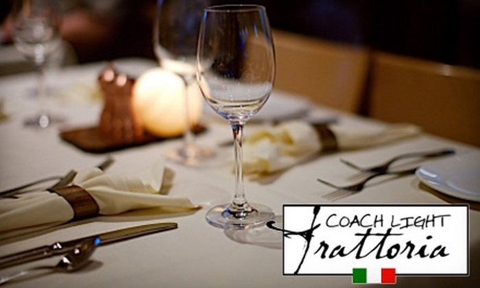 Coach Light Trattoria - Southern Pines: $20 for $40 Worth of Italian Dinner Fare at Coach Light Trattoria