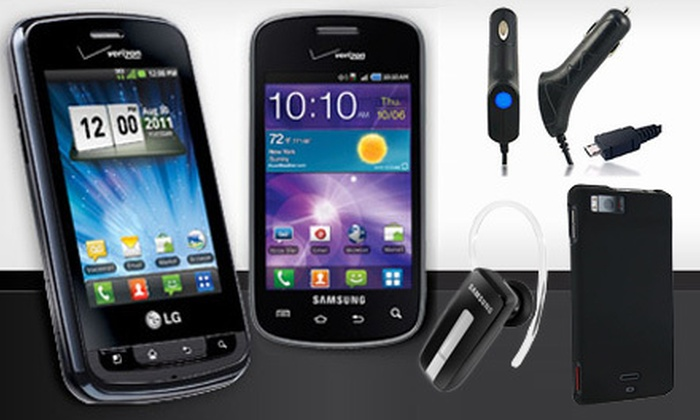 Tranzmobile, a Verizon Authorized Retailer : $10 for a Verizon Wireless Smartphone, Accessories Pack, and $25 Verizon Wireless Gift Card ($104.97 Value). Shipping Included.