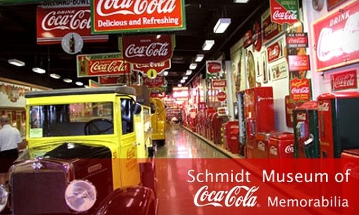 Schmidt Museum of Coca-Cola Memorabilia - Elizabethtown: $5 for Two Admissions to Schmidt Museum of Coca-Cola Memorabilia in Elizabethtown (Up to $10 Value)