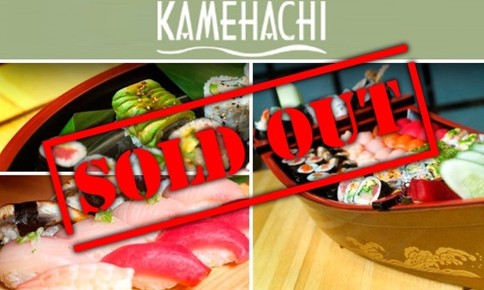 Kamehachi - Multiple Locations: $20 for $50 Worth of Sushi & Japanese Cuisine at Kamehachi