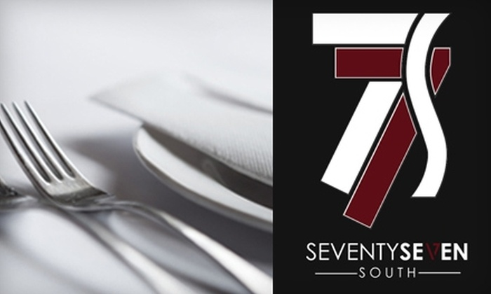77 South - Cornerstone Of Leawood: $12 for $24 Worth of Eclectic Cuisine at 77 South in Leawood