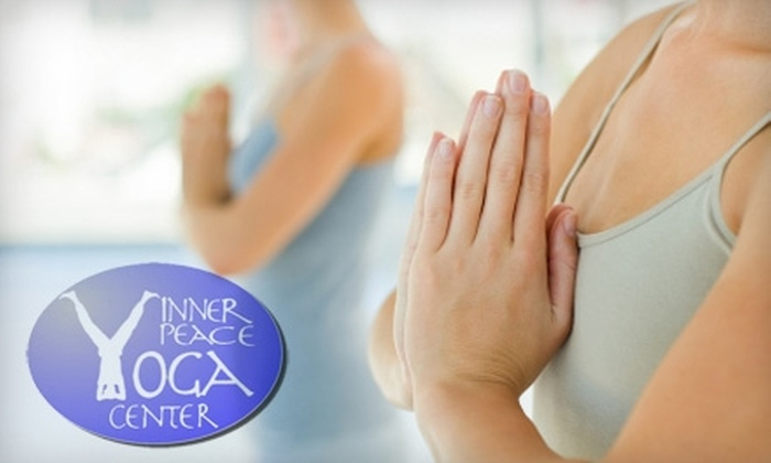 Inner Peace Yoga Center - Indianapolis: $39 for Six Weeks of Unlimited Yoga Classes (or $35 for Five Drop-in Classes) at Inner Peace Yoga Center. Choose from Two Options.