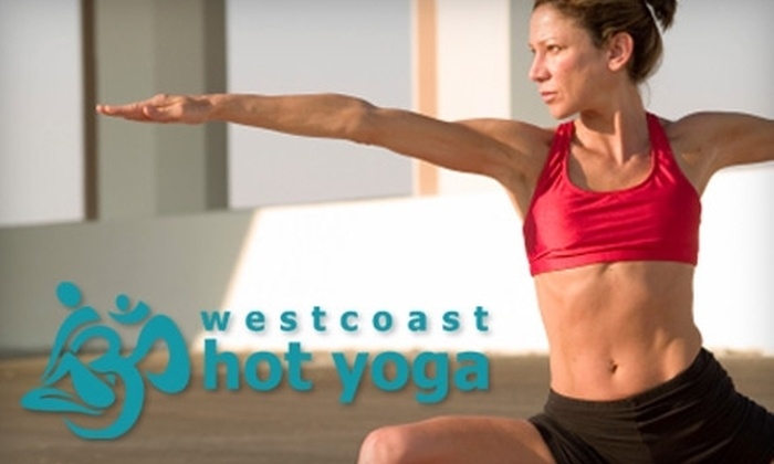 Westcoast Hot Yoga - Multiple Locations: $30 for 30 Days of Unlimited Yoga at Westcoast Hot Yoga