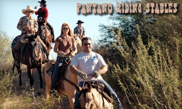 Pantano Riding Stables - Ward 4: $22 for an Hour-and-a-Half Sunset Horseback Ride with Pantano Riding Stables ($50 Value)