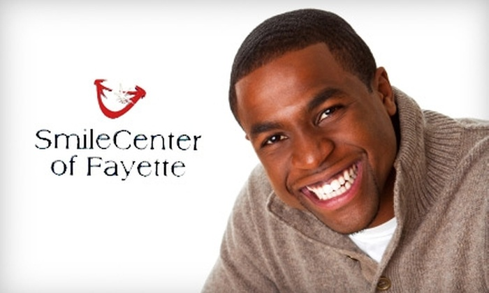 SmileCenter of Fayette - Fayetteville: $99 for a Teeth Whitening (Up to $395 Value) or $59 for a Dental Cleaning, X-Rays, and a Cosmetic Smile Preview ($419 Value) at SmileCenter of Fayette