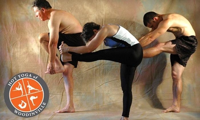 Hot Yoga of Woodinville - Town Center: $30 for 10 Classes at Hot Yoga of Woodinville ($130 Value)