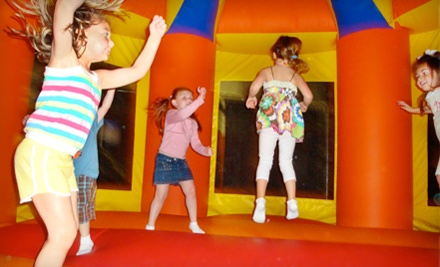 Walk-In Play Package: 1 Admission ($8 value), 1 Drink ($1) & 1 Snack ($1) - BooKoo Bounce in Harahan