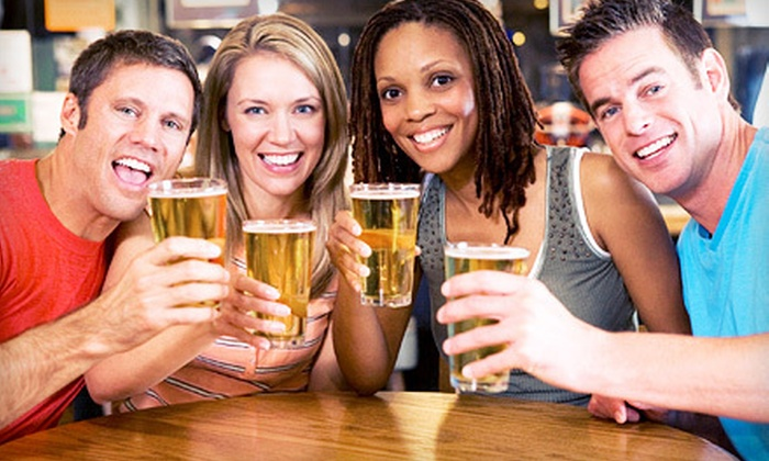 Calhoun Square, Famous Dave's, Sushi Tango, Uptown Cafeteria, Chiang Mai Thai - Calhoun Isles,Carag,Hennepin and Lake: $29 for a Four-Restaurant Pub Crawl with Drinks and Appetizers at Calhoun Square on Saturday, May 19 (Up to $72 Value)