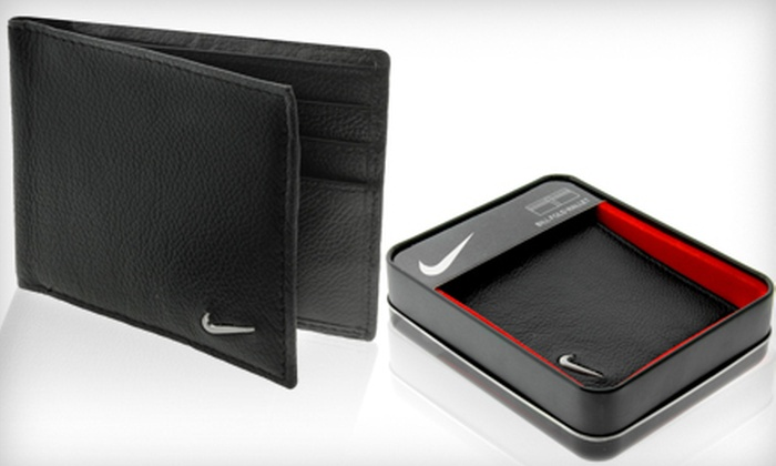 Men's Nike Genuine Leather Wallet: $15 for a Men's Nike Bi-fold Wallet ($45 Value). Shipping Included.