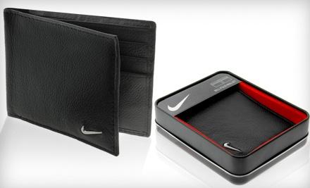 Good for a Men's Nike Genuine Leather Bi-Fold Wallet (a $45 value) - Men's Nike Genuine Leather Wallet in