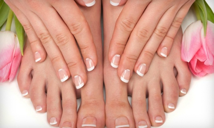 Fancie Nail & Beauty Spa - Union Square,Chelsea,Flatiron District: One or Three Mani-Pedis at Fancie Nail & Beauty Spa (Up to 58% Off). Four Options Available.