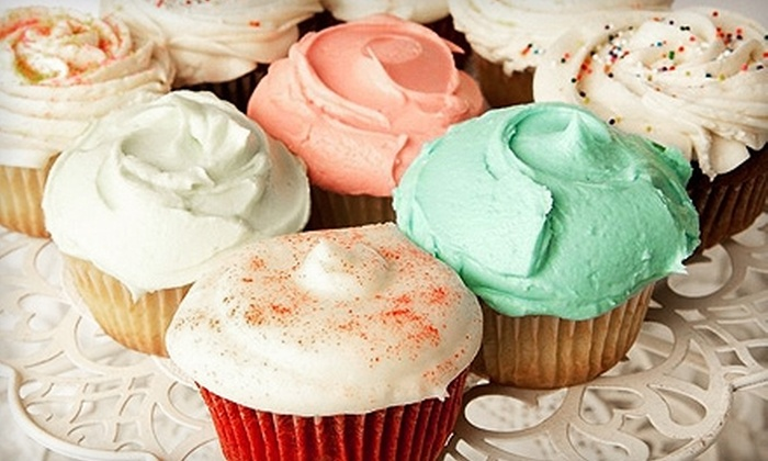 The Cupcake Café - Downtown Phoenix: $21 for One Dozen Cupcakes Delivered to Your Door from The Cupcake Café ($43 Value)