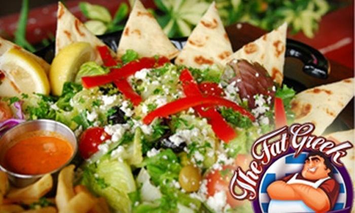 The Fat Greek - Diamond Head - Kapahulu - St. Louis: $12 for $25 Worth of Greek Fare and Drinks at The Fat Greek