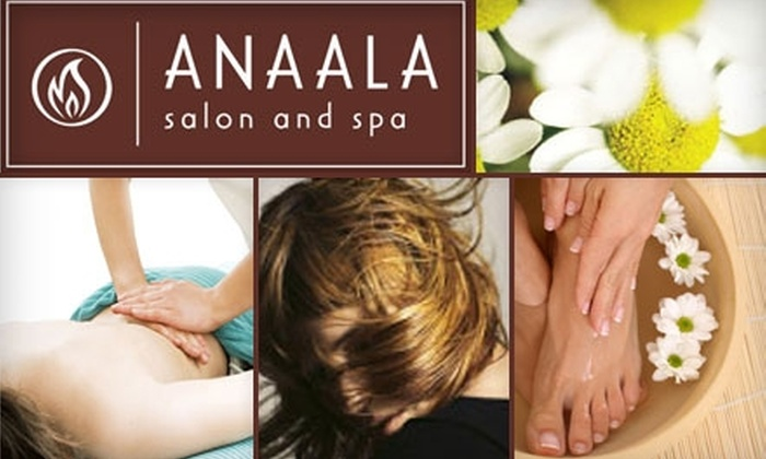 Anaala Salon and Spa - Multiple Locations: $25 for $50 Worth of Services at Anaala Salon and Spa