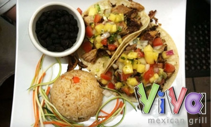 Viva Mexican Grill and Tequileria - Wayland: $15 for $30 Worth of Mexican Cuisine at Viva Mexican Grill and Tequileria in Wayland
