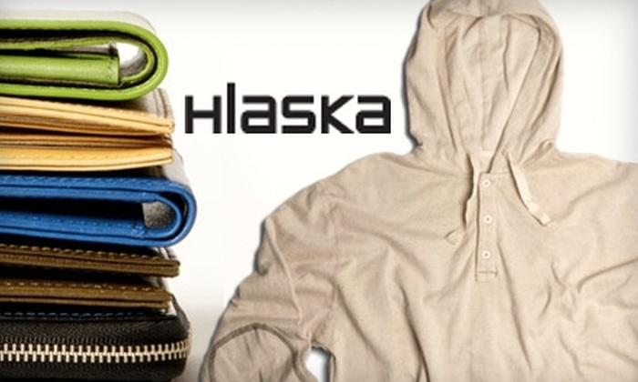 Hlaska - Multiple Locations: $50 for $100 of Wallets, Bags, and Men's Apparel at Hlaska