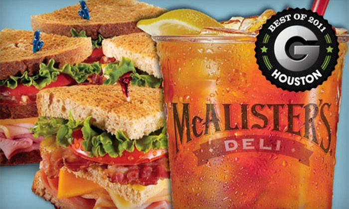 McAlister's Deli - Multiple Locations: $5 for $10 Worth of Sandwiches, Spuds, and Salads at McAlister's Deli. Two Options Available.