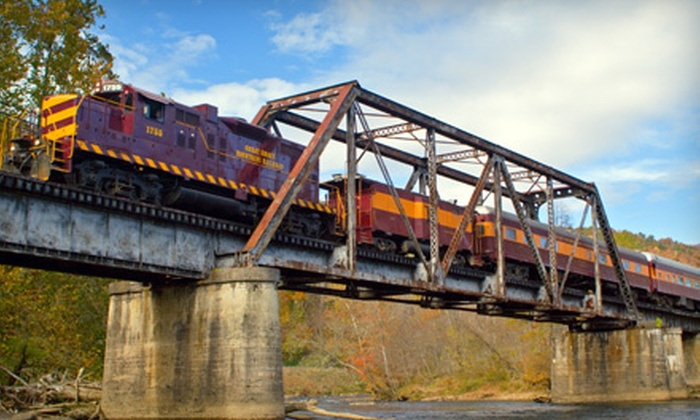 Great Smoky Mountains Railroad - Bryson City: Adult or Children's Train Outing to Nantahala Gorge from Great Smoky Mountains Railroad in Bryson City (Up to 52% Off)