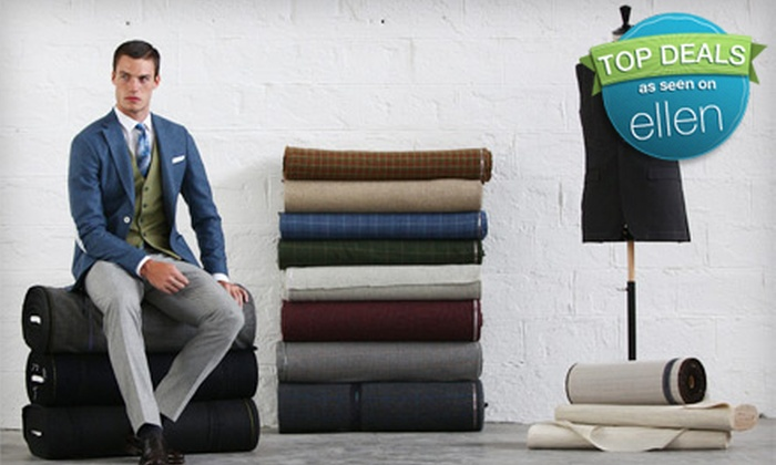 Louis Purple - NoHo: Made-to-Measure Suit, Tux, or Overcoat and Clothing Package from Louis Purple (Up to 52% Off). Basic & Premium Fabric Options Available.