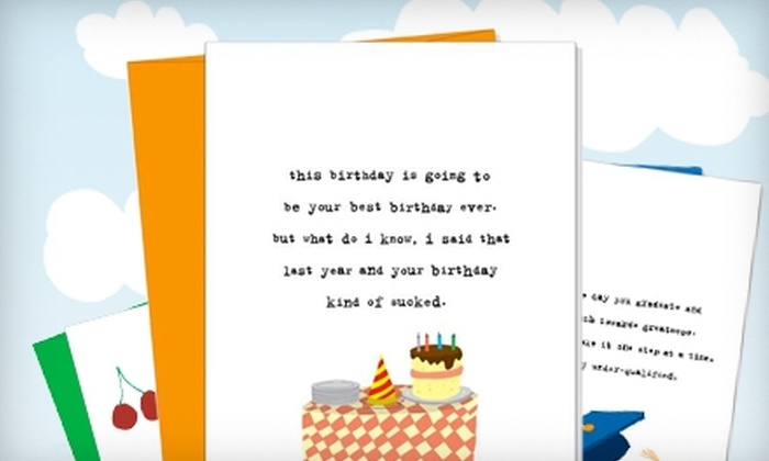 Uncooked: $10 for $25 Worth of Quirky Greeting Cards from Uncooked