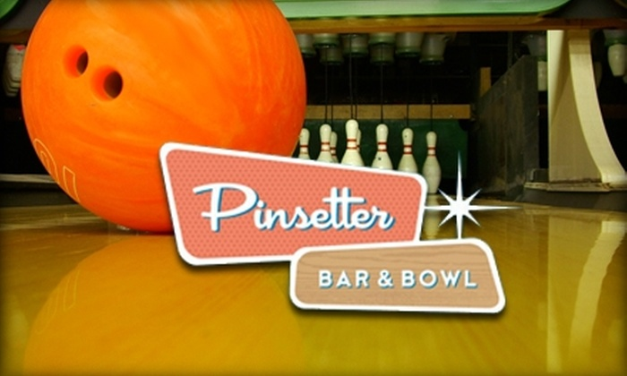 Pinsetter Bar & Bowl - Pennsauken: $30 Worth of Bowling and Shoe Rental at Pinsetter Bar & Bowl