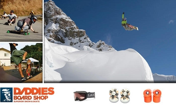 Daddies Board Shop - Roseway: $15 for Snowboard or Ski Tune-Up Plus Hand-Warming and Toasty Toes Packets at Daddies Board Shop ($34 Value)