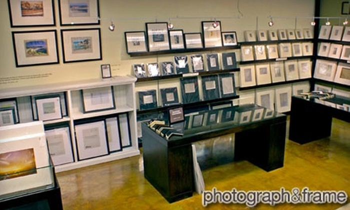 "photograph & frame - Marina: $39 for Custom Framing Services for Any Print Up to 24"" x 36"" at photograph & frame ($150 Value)"
