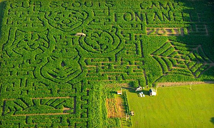 Camp Fontanelle - Camp Fontanelle: Pumpkin-Patch and Corn-Maze Visits for Two, Four, or Six or Admissions and Laser Tag for Four or Six at Camp Fontanelle