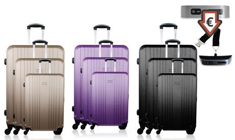 Bluestar set de 3 maletas modelo Europe disponibles en varios colores con báscula de equipaje de regalo