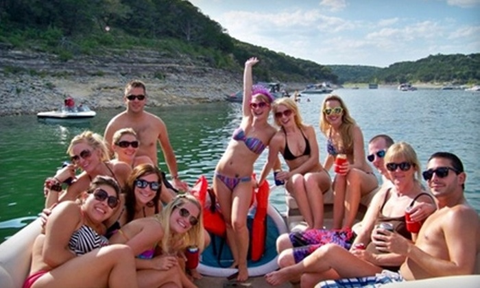 Austin's Boat Tours - Emerald Point: $197 for a Four-Hour Party-Barge Rental for Up to 15 People With a Captain from Austin's Boat Tours ($395 Value)