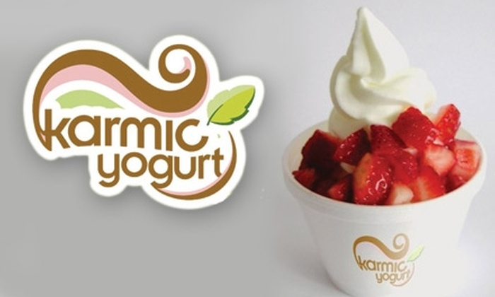 Karmic Yogurt - Shadyside: $5 for Two Medium Yogurts with Any One Topping at Karmic Yogurt