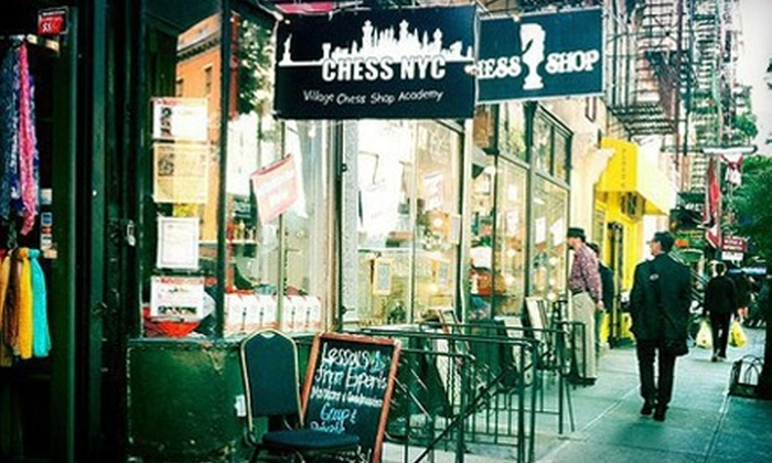New York City Chess Inc. - Greenwich Village: $89 for Lessons from New York City Chess Inc., $10 Toward Play & $10 Toward Merchandise at Village Chess Shop ($185 Value)